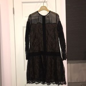 Chloe Black Lace Dress Sz 34